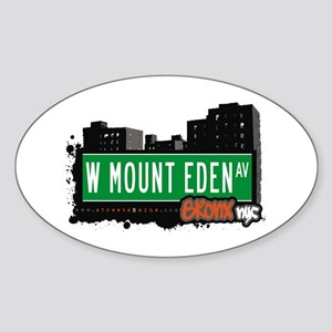 W Mount Eden Av, Bronx, NYC Oval Sticker