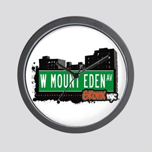 W Mount Eden Av, Bronx, NYC Wall Clock