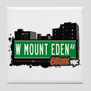W Mount Eden Av, Bronx, NYC Tile Coaster