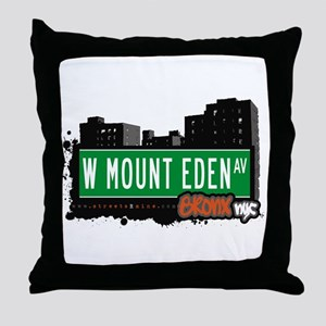 W Mount Eden Av, Bronx, NYC Throw Pillow
