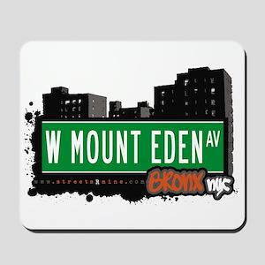 W Mount Eden Av, Bronx, NYC Mousepad