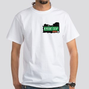 W Mount Eden Av, Bronx, NYC White T-Shirt