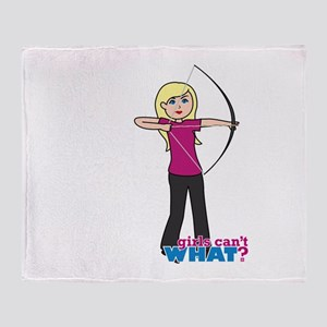 Archery Girl Light/Blonde Throw Blanket