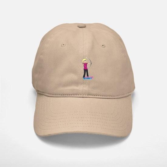 Archery Girl Light/Blonde Baseball Baseball Cap