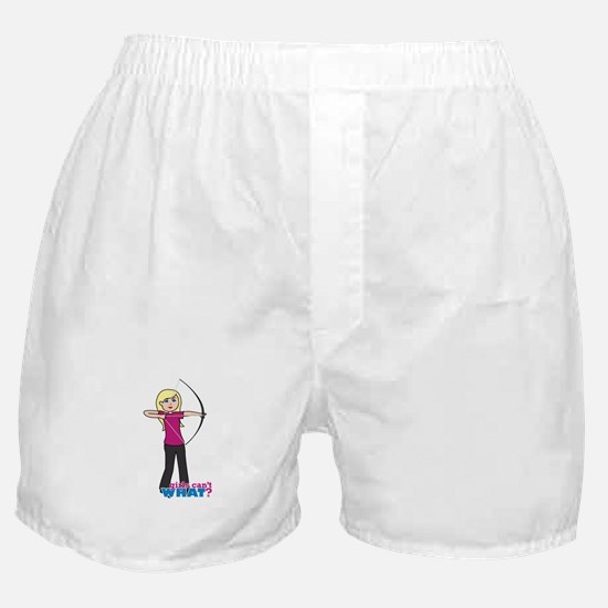 Archery Girl Light/Blonde Boxer Shorts