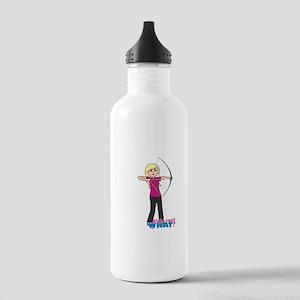 Archery Girl Light/Blonde Stainless Water Bottle 1