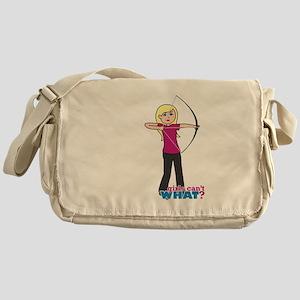 Archery Girl Light/Blonde Messenger Bag