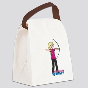 Archery Girl Light/Blonde Canvas Lunch Bag