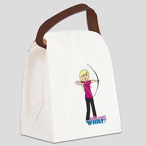 Archery Girl Light/Blonde Canvas Lunch Bag