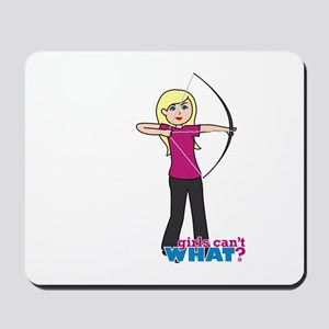 Archery Girl Light/Blonde Mousepad