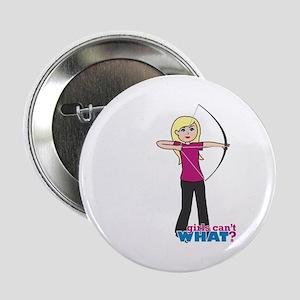 "Archery Girl Light/Blonde 2.25"" Button"