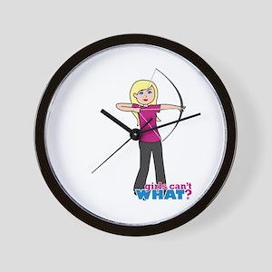 Archery Girl Light/Blonde Wall Clock