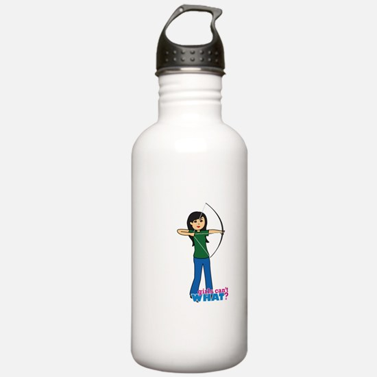 Archery Girl Medium Sports Water Bottle