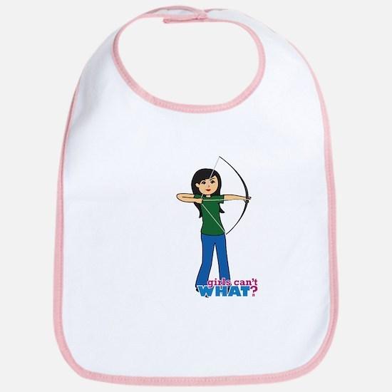Archery Girl Medium Bib