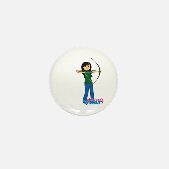 Archery Girl Medium Mini Button
