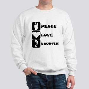 Peace Love Squatch Sweatshirt
