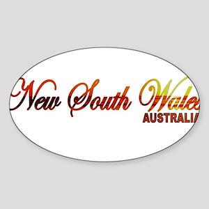 New South Wales, Australia Oval Sticker