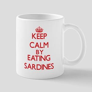 Keep calm by eating Sardines Mugs
