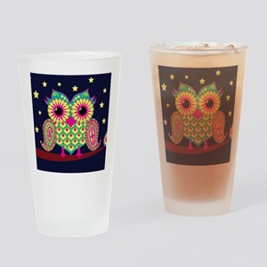 stars and owl Drinking Glass