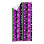 Zodiac Purple Stripes Beach Towel