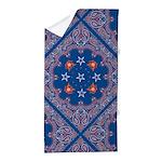 Patriotic Blue Bandana Beach Towel