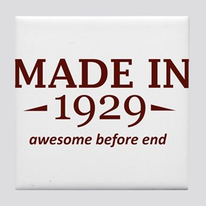 Made in 1929 Tile Coaster