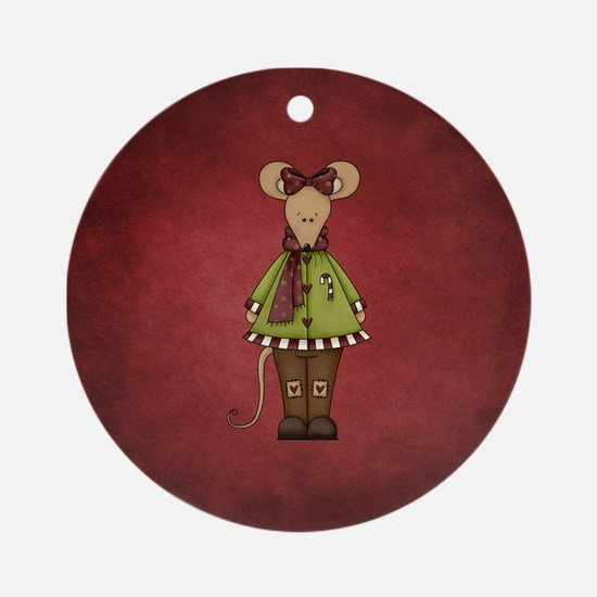 MERRY MOUSE Round Ornament