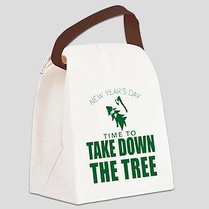 MSU Rose Bowl Green Tree Canvas Lunch Bag