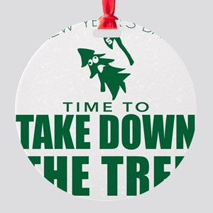 MSU Rose Bowl Green Tree Round Ornament