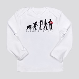 evolution of man accordion player Long Sleeve T-Sh