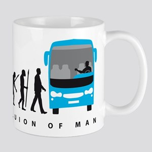 evolution of man bus driver Mugs