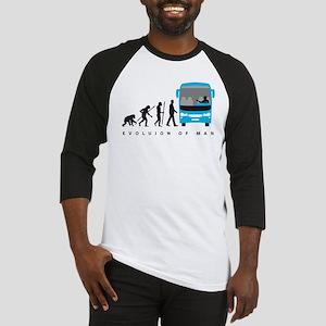 evolution of man bus driver Baseball Jersey
