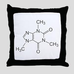 Caffeine Molecule Throw Pillow