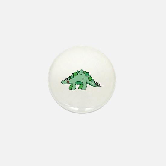 Cute Green Stegasaurus Dinosaur Mini Button