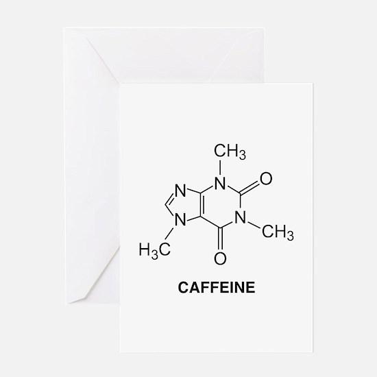 Caffeine Molecule Greeting Card
