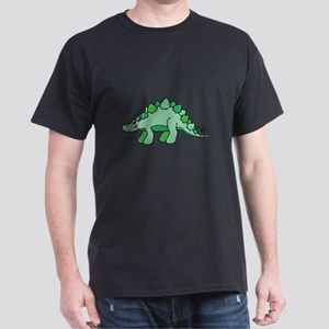 Cute Green Stegasaurus Dinosaur Dark T-Shirt