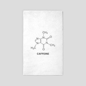 Caffeine Molecule 3'x5' Area Rug