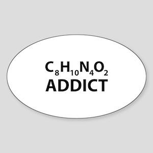Caffeine Addict Sticker (Oval)