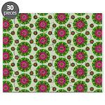Green Retro Mandala Pattern Puzzle