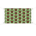 Green Retro Mandala Pattern Banner
