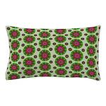 Green Retro Mandala Pattern Pillow Case