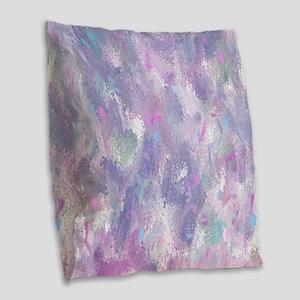 Spring Illusion Abstract Burlap Throw Pillow
