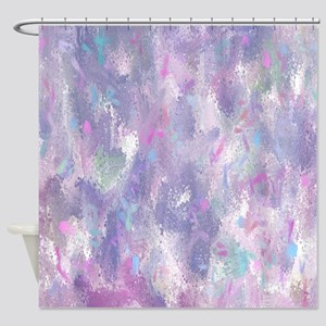 Spring Illusion Abstract Shower Curtain