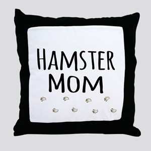 Hamster Mom Throw Pillow