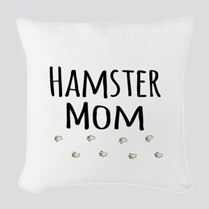 Hamster Mom Woven Throw Pillow