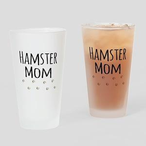 Hamster Mom Drinking Glass