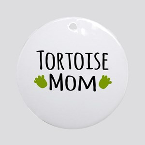 Tortoise Mom Ornament (Round)