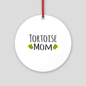 Tortoise Mom Ornament (Round)