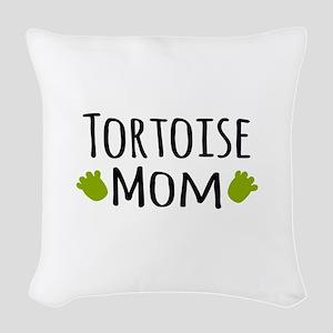 Tortoise Mom Woven Throw Pillow