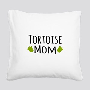 Tortoise Mom Square Canvas Pillow